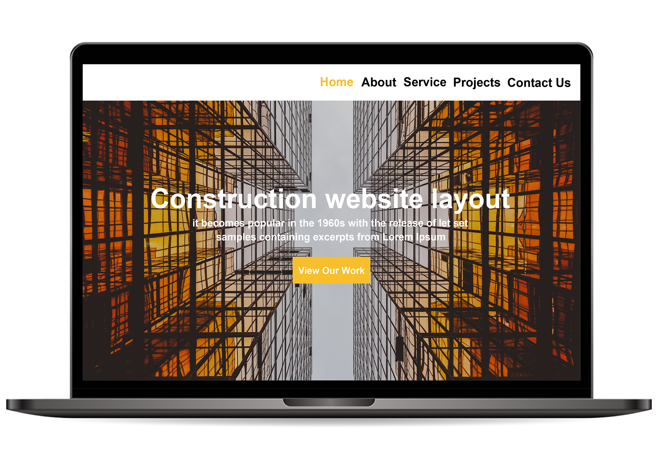 Construction Website Layout