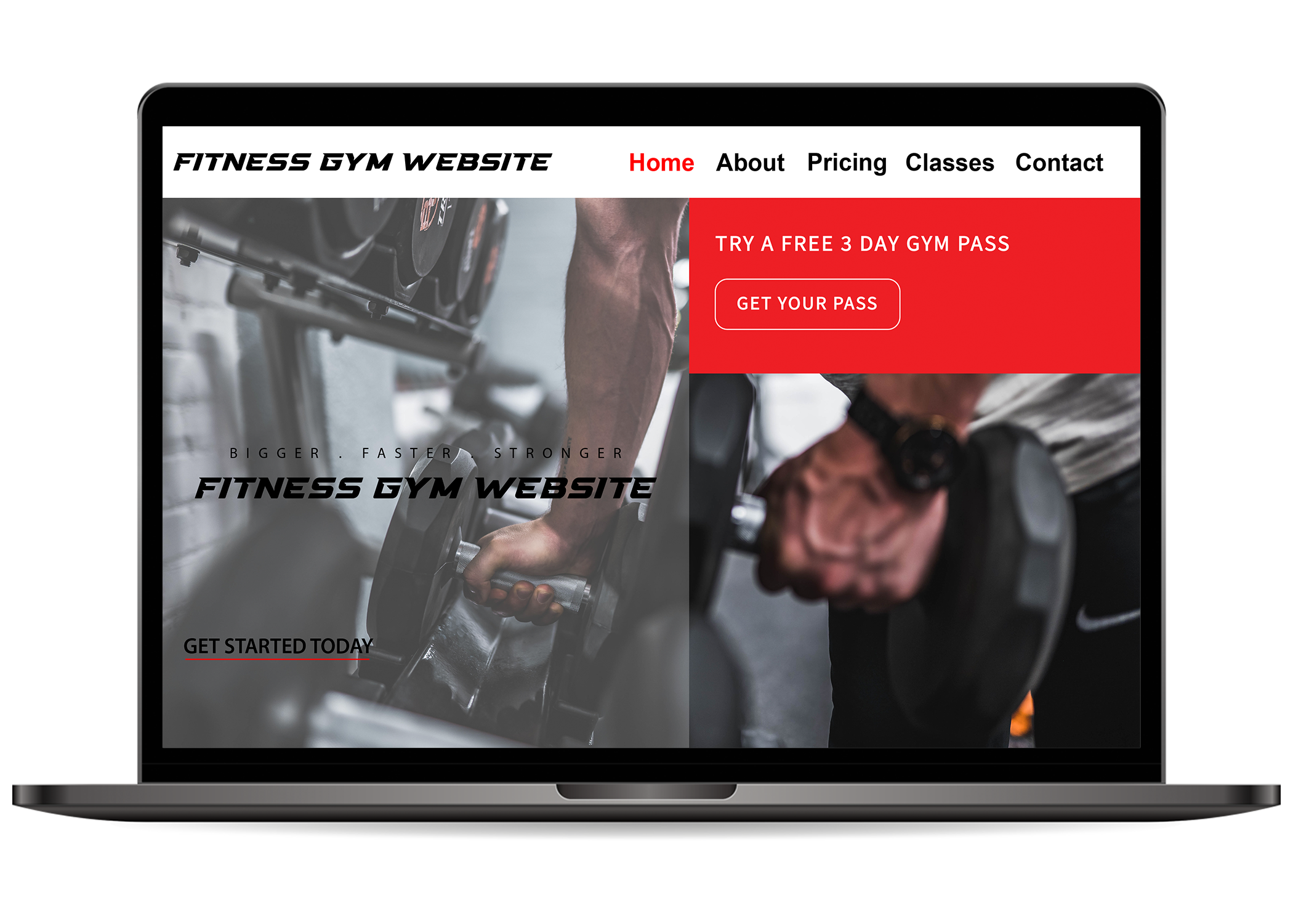 Fitness Gym Website Layout